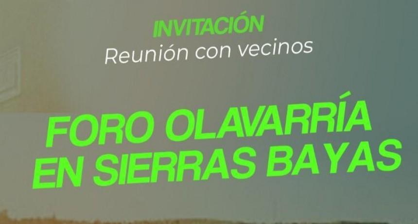 Foro Olavarría programa reunión con vecinos de Sierras Bayas