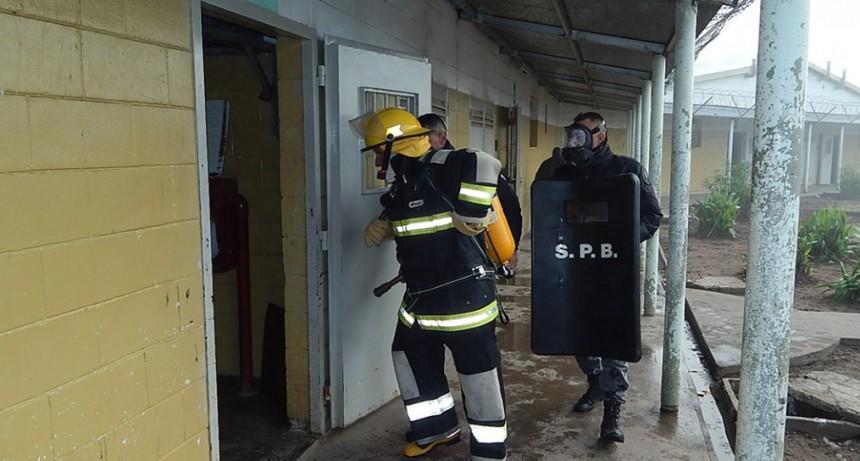 Hubo simulacro de Incendio en la Unidad N° 38