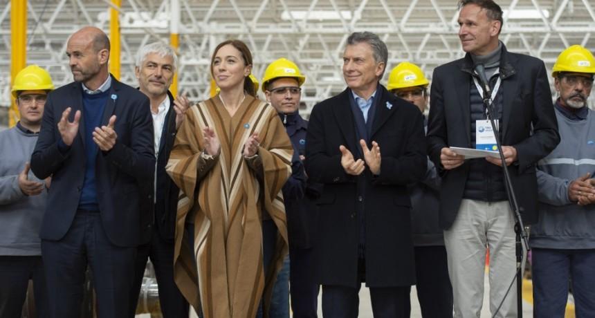 Vidal y  Macri encabezaron el acto de apertura de una fábrica ferroviaria en Bragado