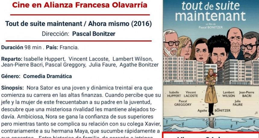 Cine de viernes en la Alianza Francesa