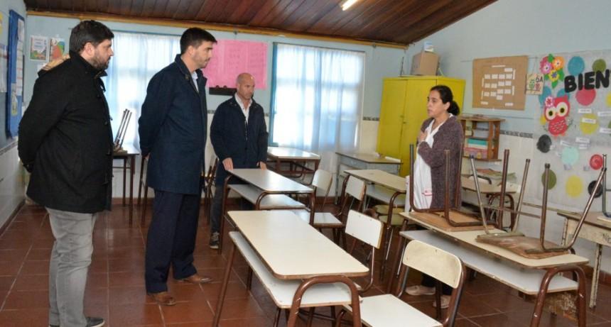 Ezequiel Galli anunció un paquete de obras para mejorar la infraestructura de la Escuela N° 50