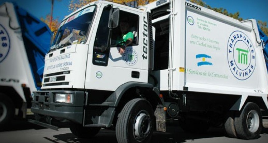 Servicios de recolección de Transporte Malvinas