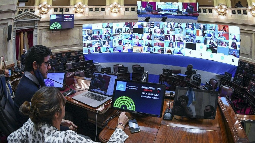 El Senado superó con éxito el primer ensayo para la sesión virtual del 13 de mayo