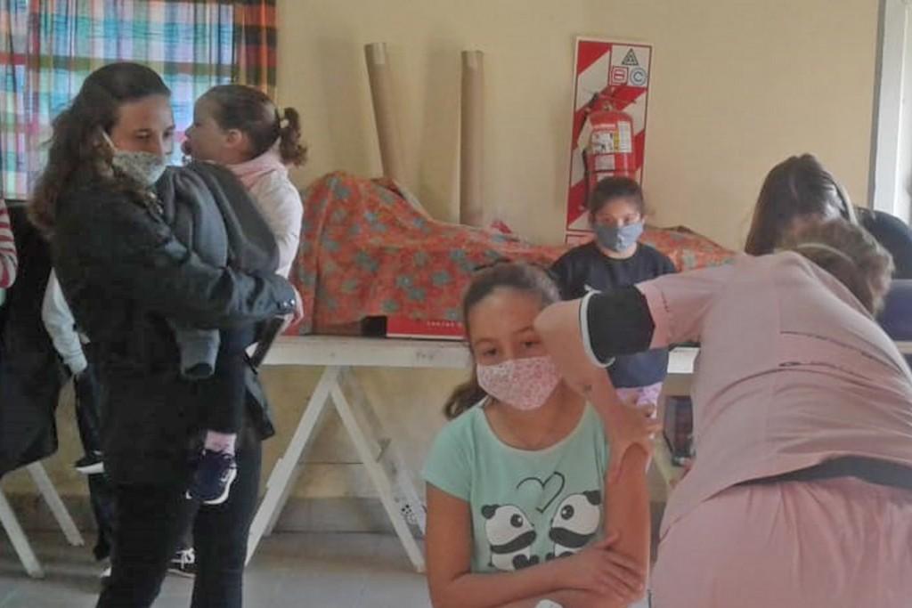 Vacunaron en Santa Luisa