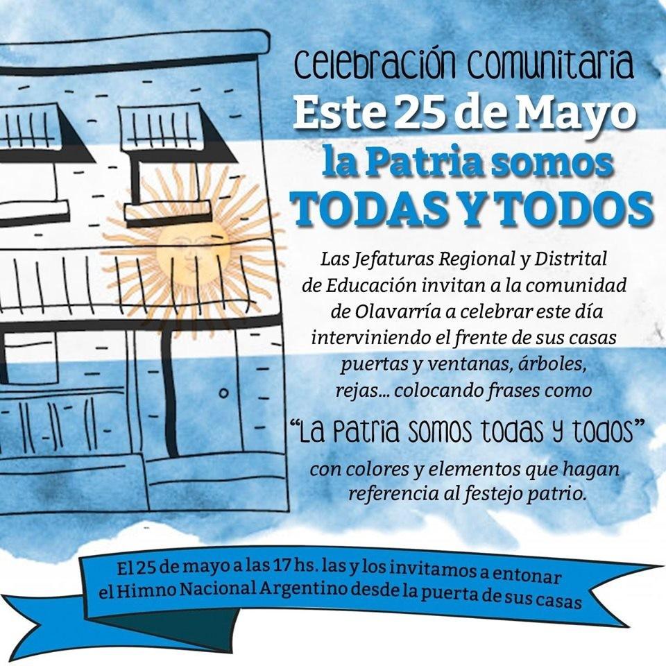 Olavarría propone una celebración comunitaria  del 25 de Mayo