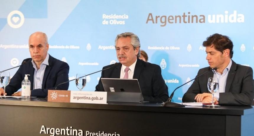 El presidente extiende la cuarentena en AMBA e inicia la cuarta fase en el resto del país