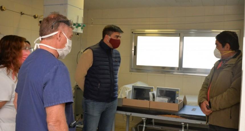 El intendente Ezequiel Galli recibió  equipamiento en el Hospital Municipal