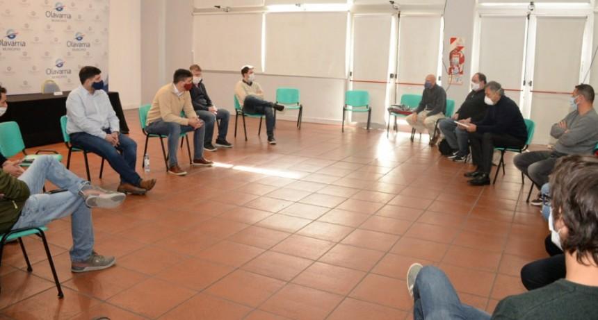 El intendente Ezequiel Galli se reunió con presidentes de clubes locales