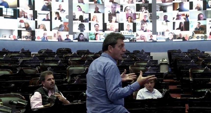 Diputados realizó la primera sesión virtual de su historia