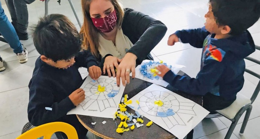 Los chicos de los hogares convivenciales municipales realizaron actividades por la Semana de Mayo