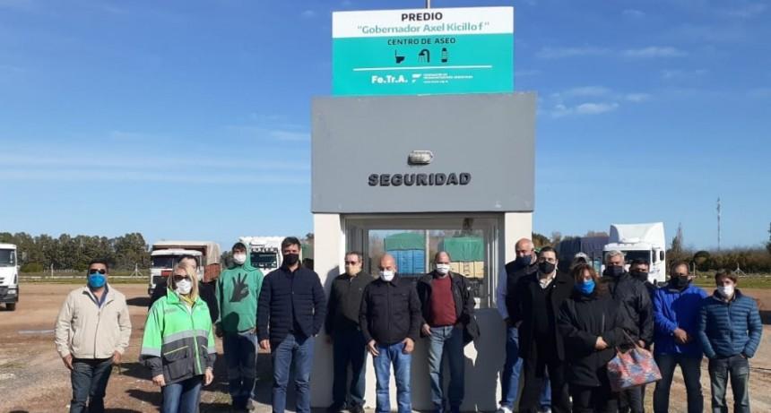 Se inauguró un centro de Higiene y aseo para camioneros en la ciudad de Azul