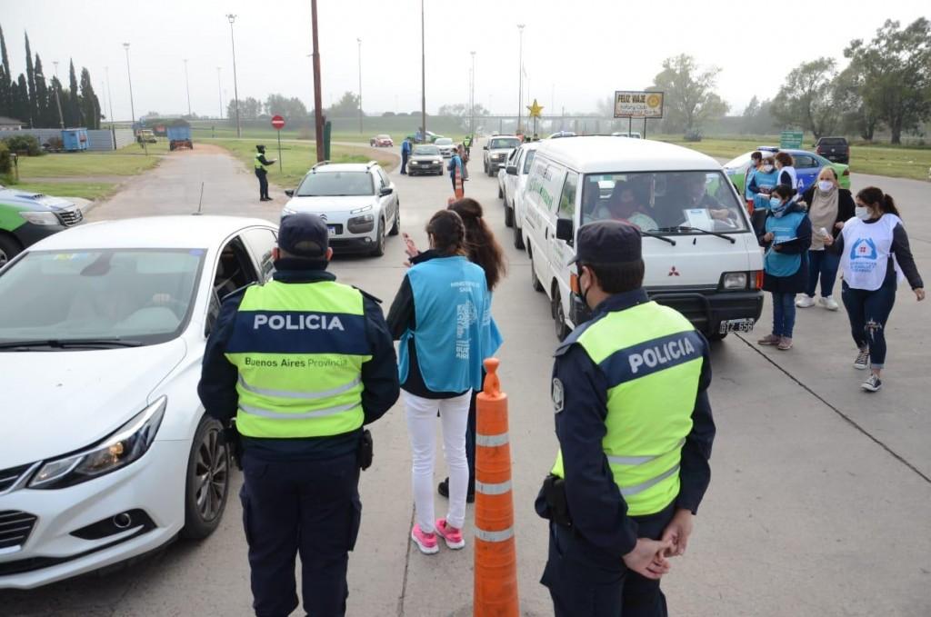 Provincia realiza control de síntomas en los accesos a Olavarría