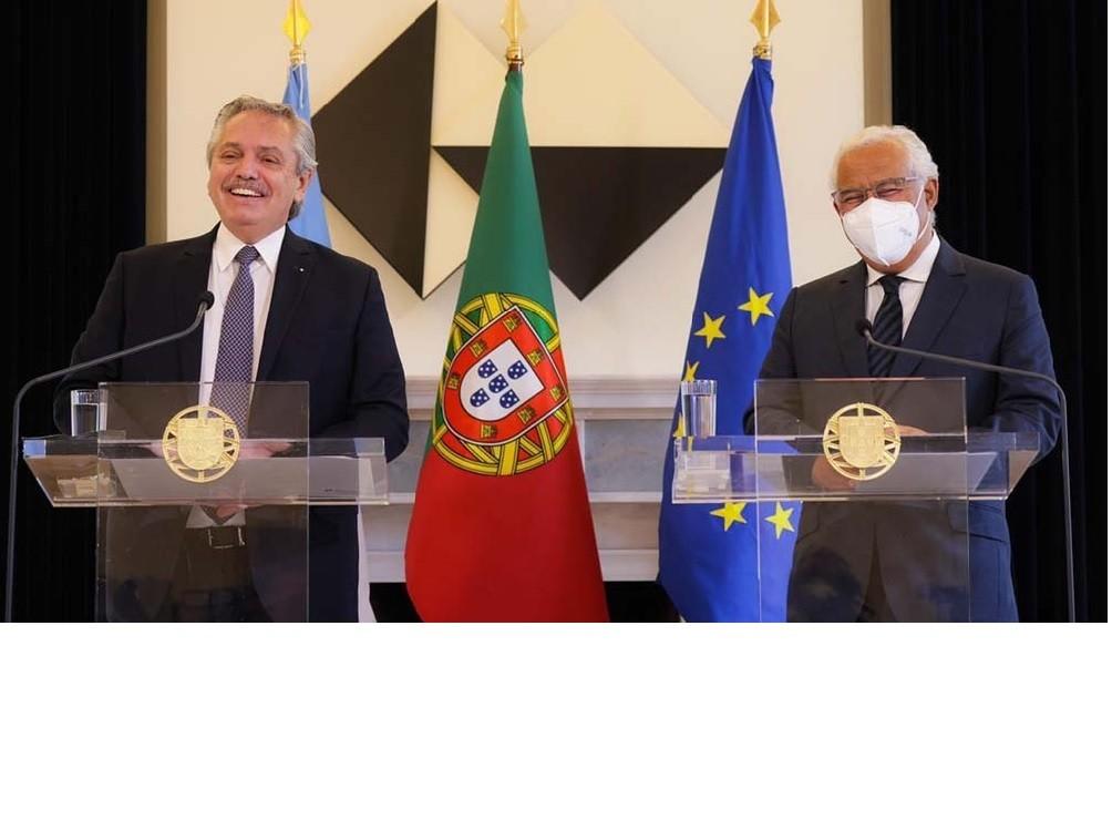 El Presidente recibió el apoyo de Portugal en las negociaciones con el FMI por la deuda
