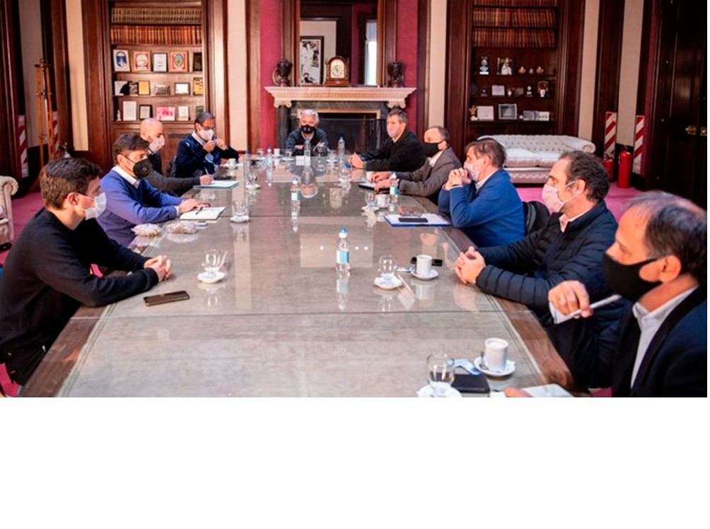 Kicillof se reunió con cadenas de producción y comercio de bienes de consumo masivo