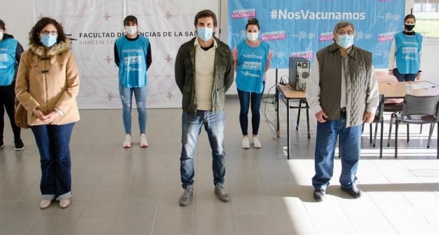 Vacunación contra el Covid en Olavarría: 'estamos muy contentos sobre cómo avanza'
