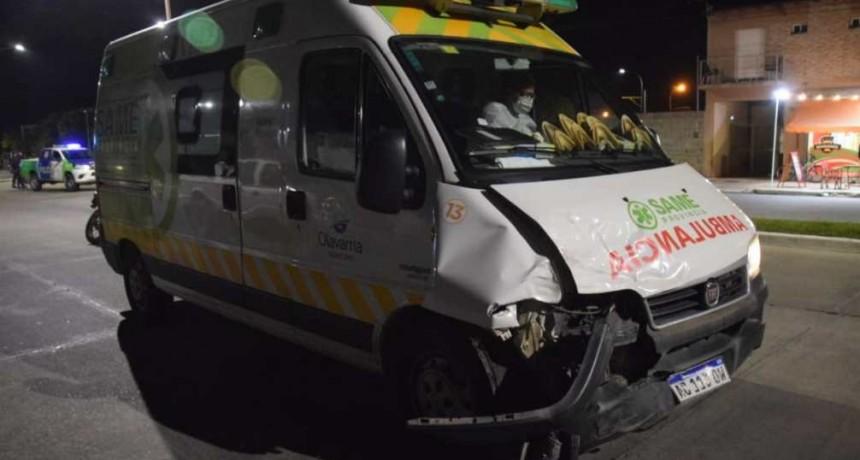 Chocó ambulancia que concurría a una emergencia