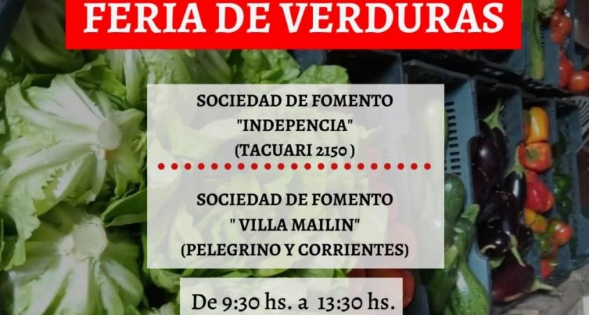 Continúan las ferias de verduras de MTE rural