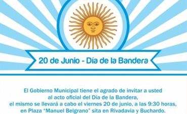 Acto oficial del Día de la Bandera