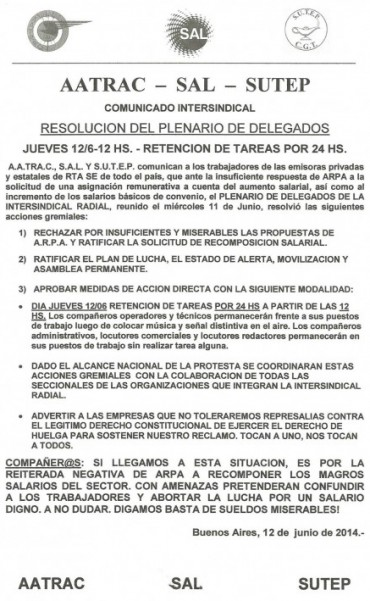 Radios: Conciliación obligatoria