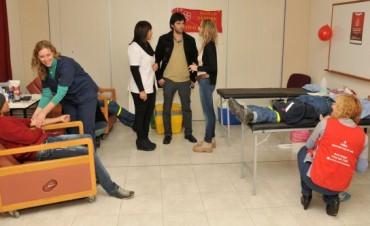 Colecta externa de sangre: Olavarría demostró su solidaridad