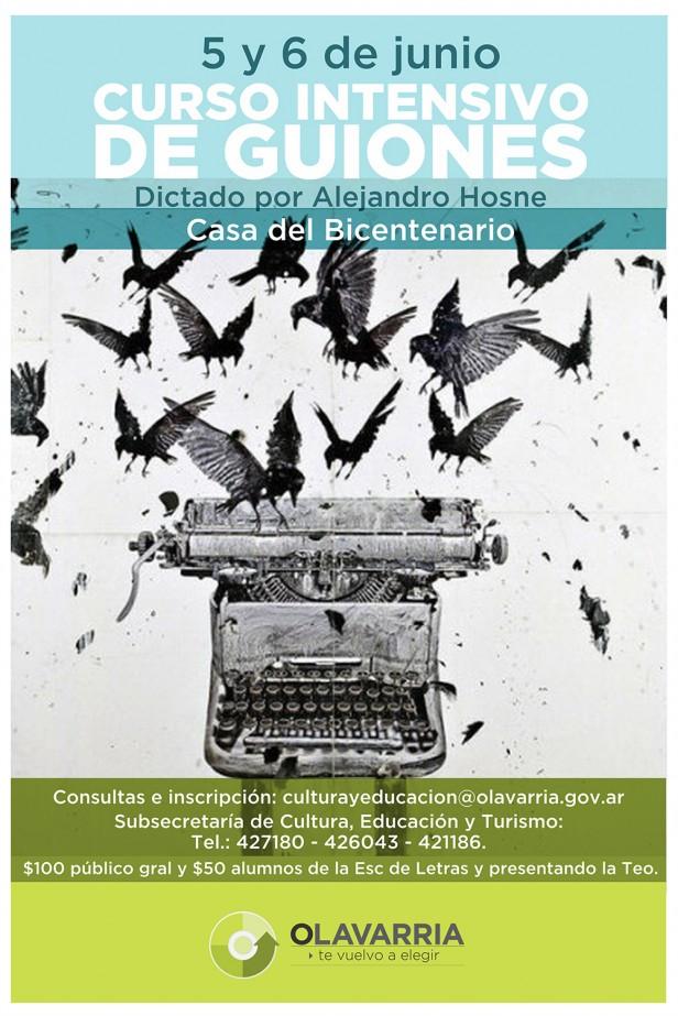 Curso intensivo de guiones en la Escuela Municipal de Letras