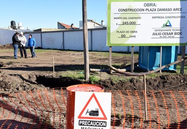 Comenzaron las obras de remodelación en la plaza  Dámaso Arce