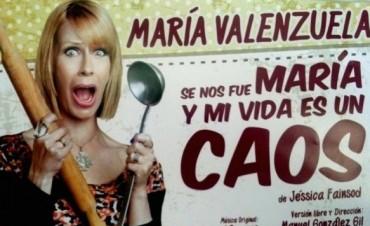 María Valenzuela y su unipersonal al Teatro Municipal
