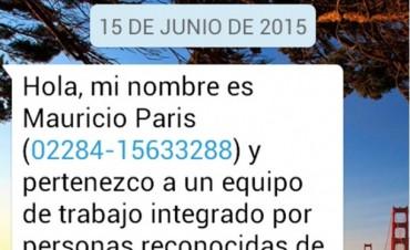 El PRO alerta por mensajes de celulares