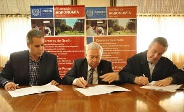 Asuntos Agrarios firmó convenio con la Universidad de Tandil