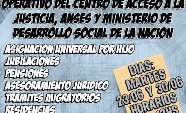 Operativo integral del Centro de Acceso a la Justicia y organismos nacionales