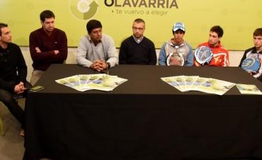 """Se presentó el Torneo de Padel """"Copa Ciudad de Olavarría"""""""
