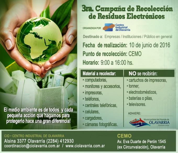 Tercera campaña de recolección de residuos electrónicos