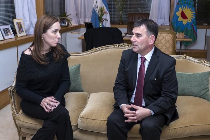 Azul: El intendente Bertellys se reunió con la Gobernadora de la Provincia