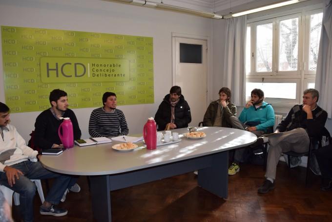 Concejales se reunieron con representantes de los Clubes de la Ciudad