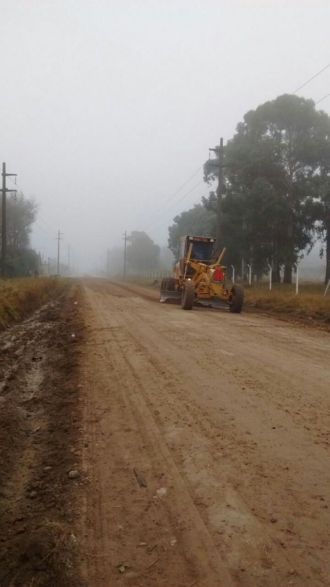 Continúan los trabajos de mantenimiento de la avenida Sarmiento