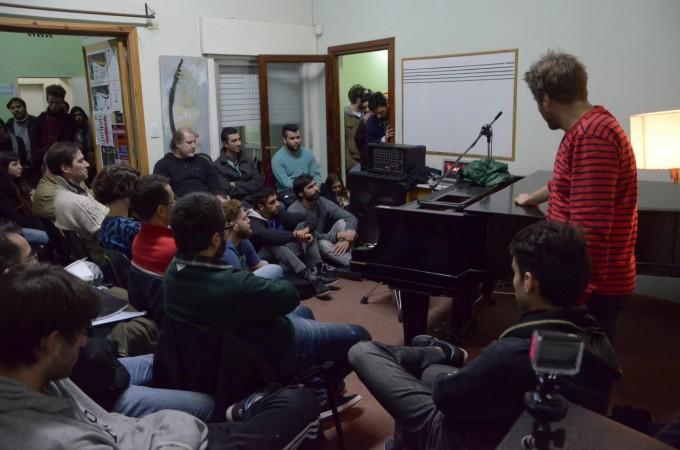 Se desarrolló con éxito la clínica de Andrés Beeuwsaert en la Escuela Municipal de Música
