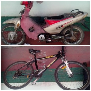 Recuperan una moto y una bicicleta