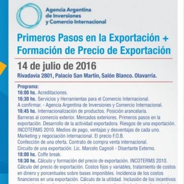 La Agencia de Comercio Exterior organiza una jornada sobre primeros pasos y formación de precios en exportaciones