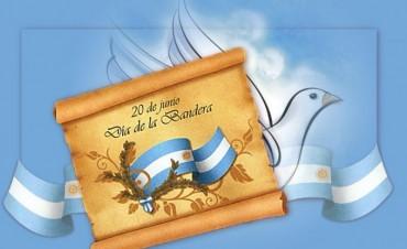 Acto por el día de la Bandera en la Guarnición Ejército de Olavarría