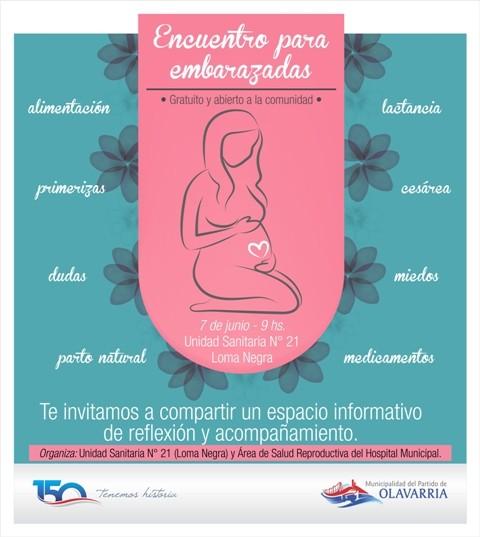 Encuentro para embarazadas en Loma Negra