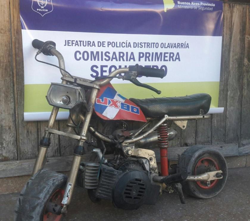 Recuperan una moto robada