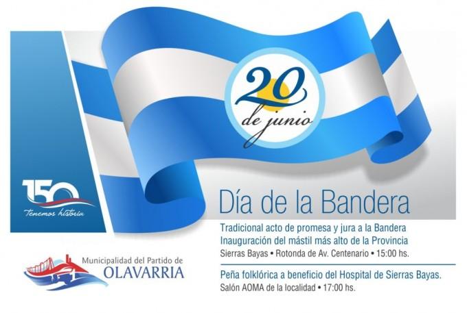 Día de la Bandera: el acto oficial será en Sierras Bayas