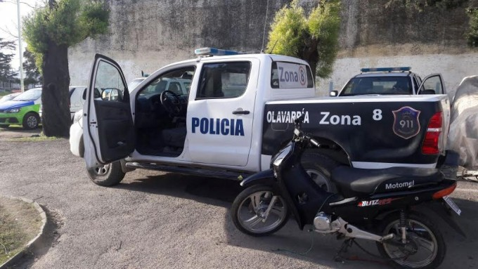 Secuestraron una moto tras un accidente