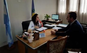 Loma Negra: Einar Iguerategui se reunió con la Delegada Municipal, Valeria Millia