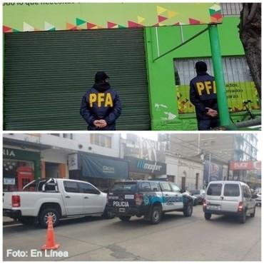 La Policía Federal realizó allanamientos por orden de la Justicia de Azul