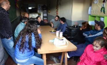 Aguilera se reunió con vecinos y vecinas del barrio Nicolás Avellaneda