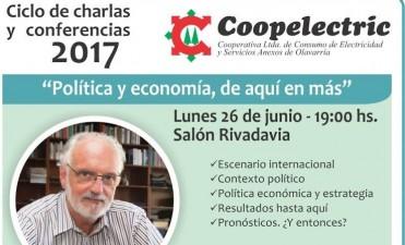 """Juan Carlos de Pablo llegará a Olavarría con """"Política y economía, de aquí en más"""""""