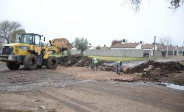 El Municipio realiza el mejoramiento de calles en Trabajadores I y II