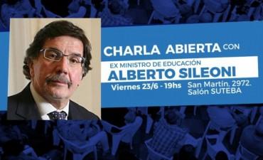Alberto Sileoni brindará una charla abierta