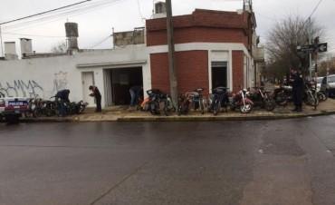 Secuestraron una gran cantidad de motos en el marco de un allanamiento